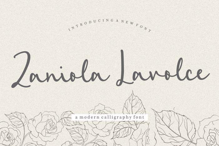 Zaniola Lavolce Font poster