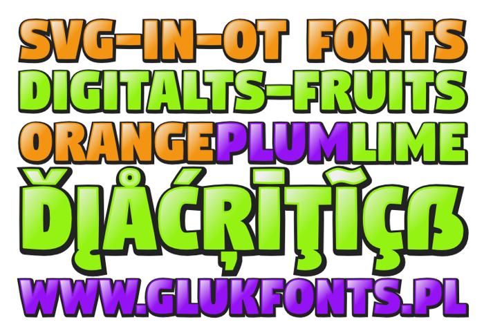 DigitaltS-Fruits Font poster