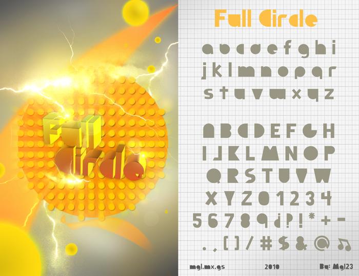 Full Circle Font poster