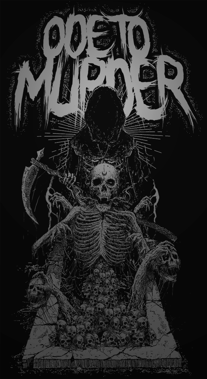 Ode To Murder Font poster