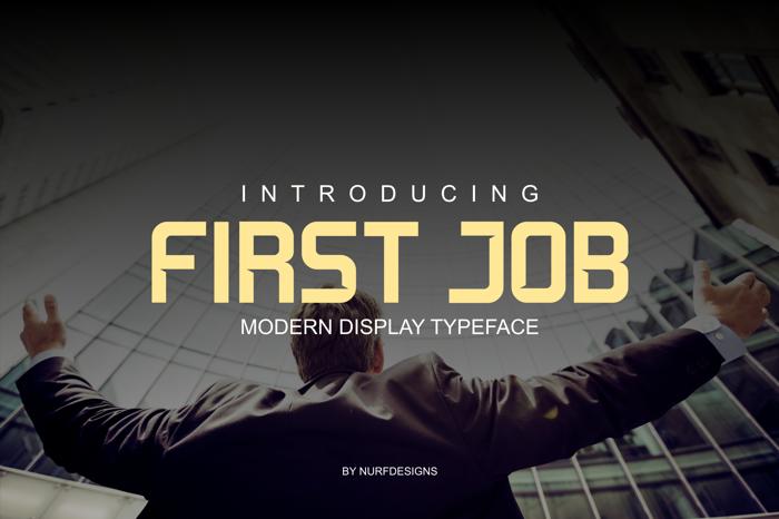 First Job Font poster