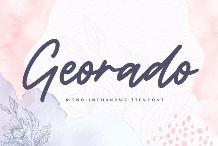 Georado Font poster