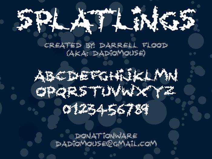 Splatlings Font poster