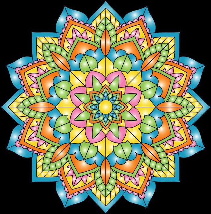 Mandalas Font poster