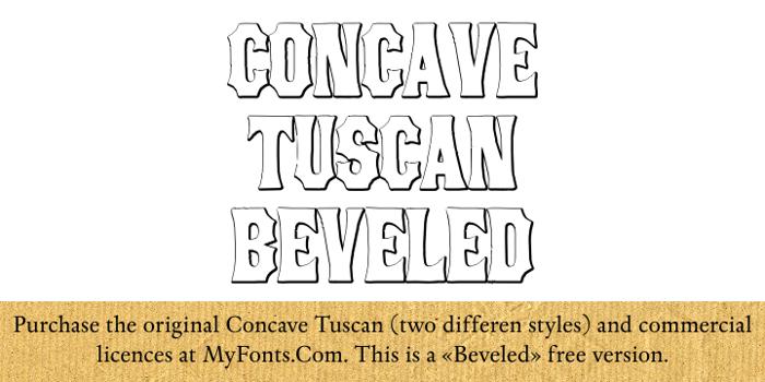 ConcaveTuscan Beveled Font poster