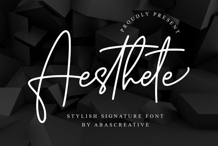 Aesthete Font poster