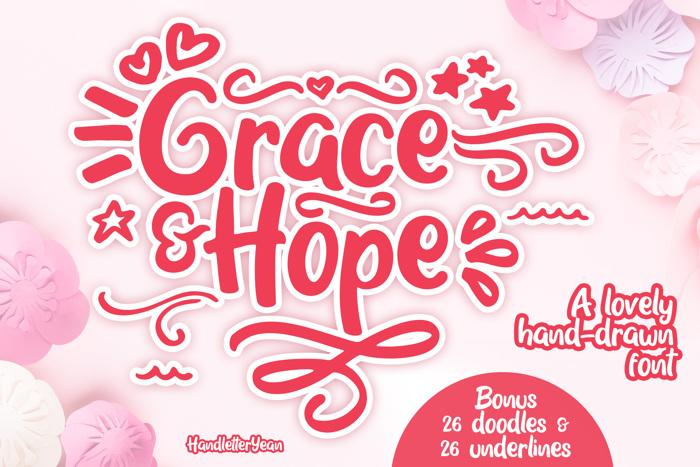 Grace & Hope Font poster