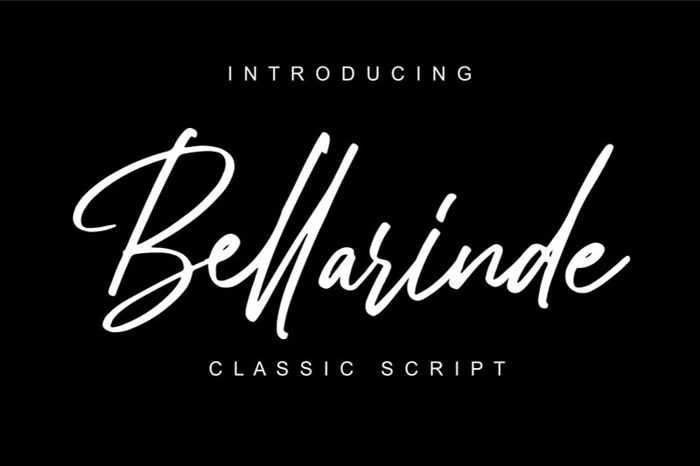 Bellarinde Font poster
