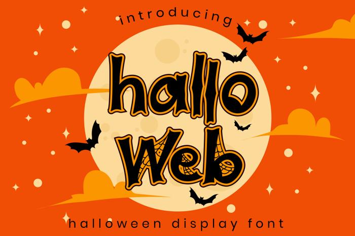 Halloweb Font poster