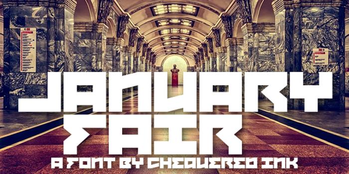 January Fair Font poster