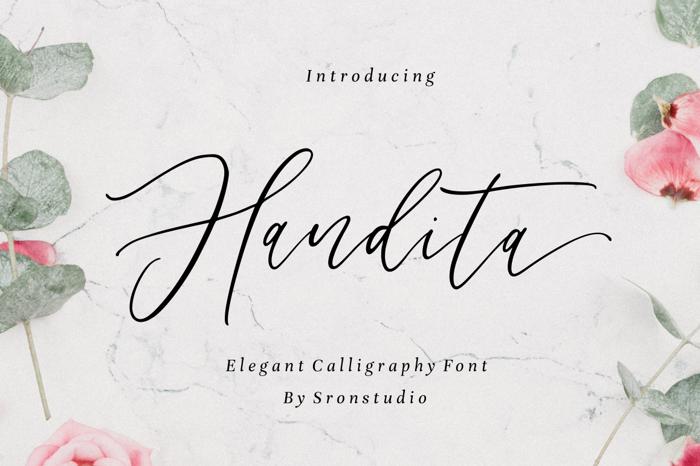 Handita Font poster