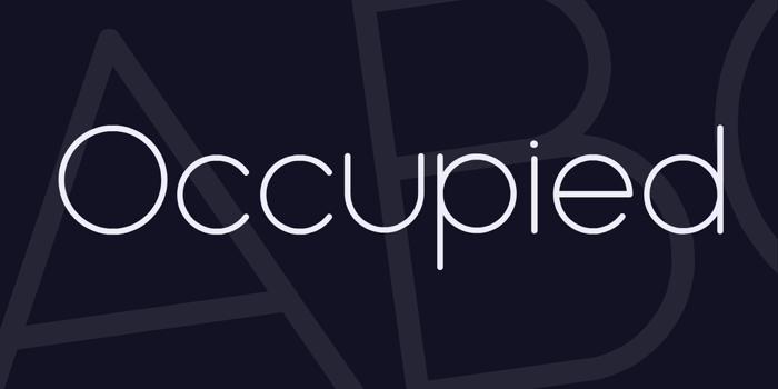 Occupied Font poster