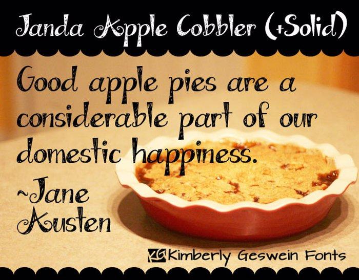 Janda Apple Cobbler Font poster