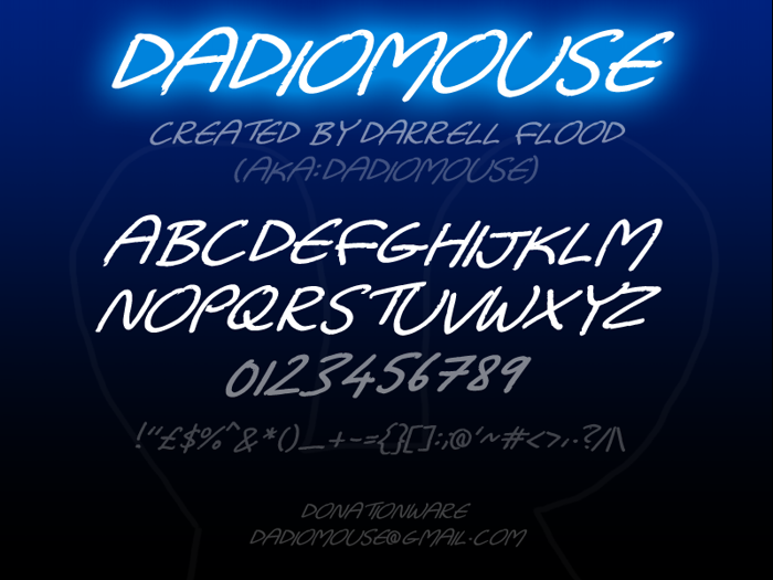 Dadiomouse Font
