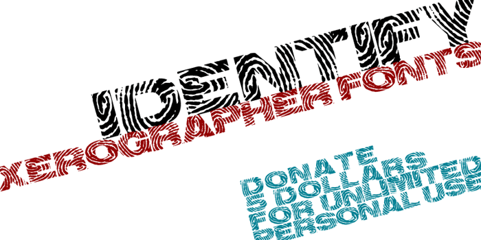 identify Font poster