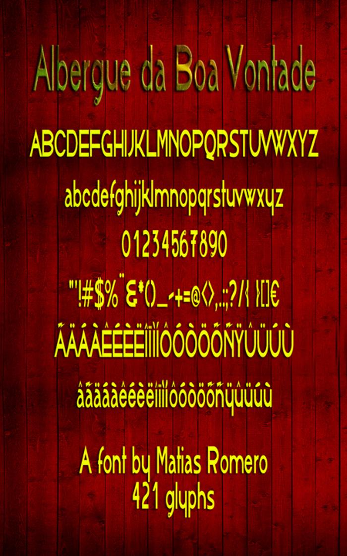 AlbergueBoaVontade Font poster