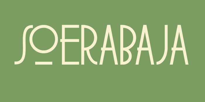DK Soerabaja Font poster