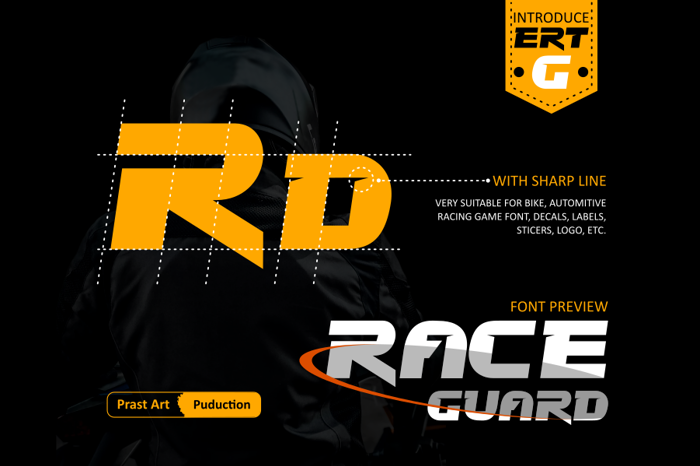 Race Guard Font poster