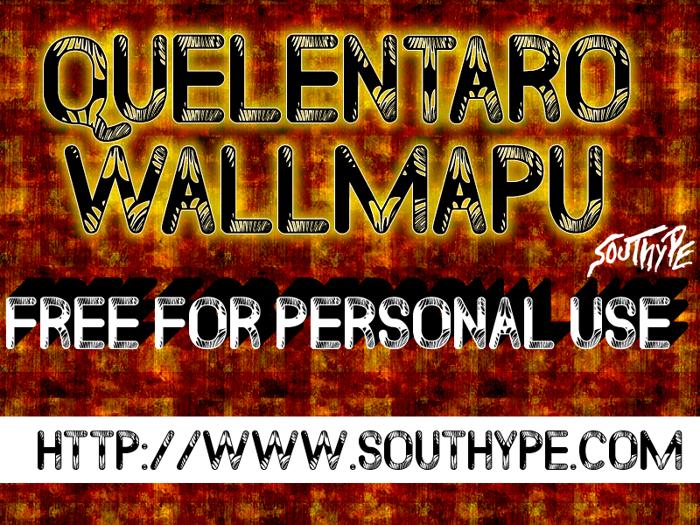 Quelentaro Wallmapu St Font poster
