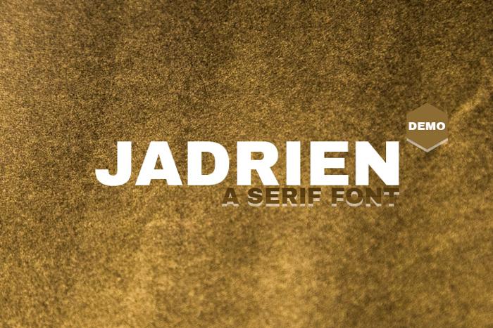 Jadrien Demo Font poster