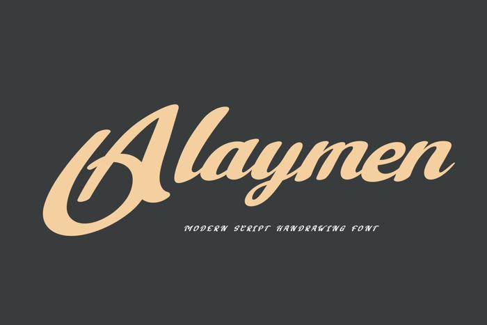 Alaymen Font poster