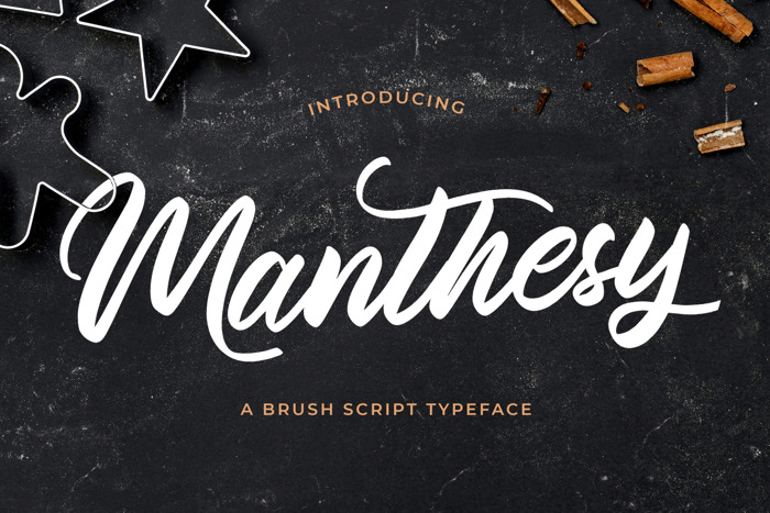 Manthesy Font poster
