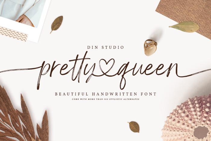 Pretty Queen Font poster
