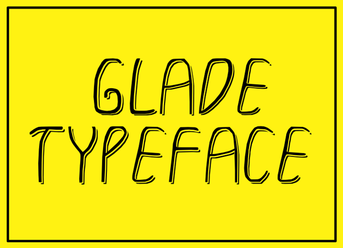 GLADE TYPEFACE Font poster