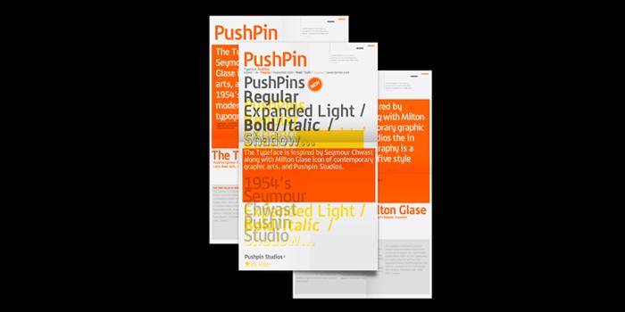PushPins Font poster
