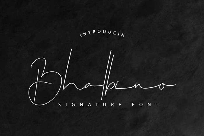 Bhalbino Font poster