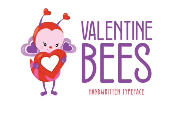 Valentine Bees Font poster