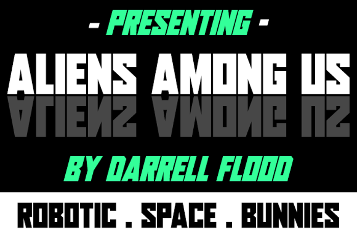 Aliens Among Us Font poster