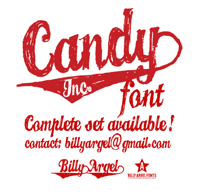 CANDY INC. Font poster