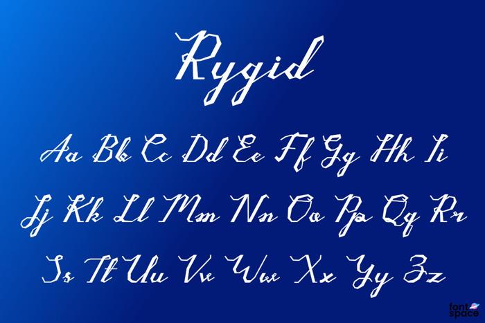 Rygid Font poster