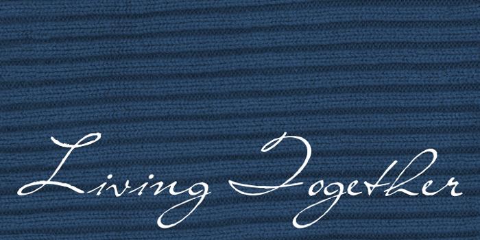 Living Together Font poster