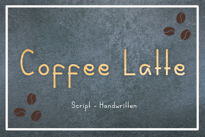 Coffee Latte Font poster