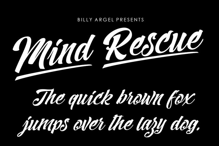 Mind Rescue Font poster