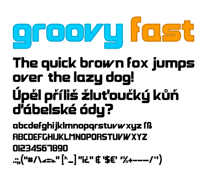 Groovy Fast Font poster