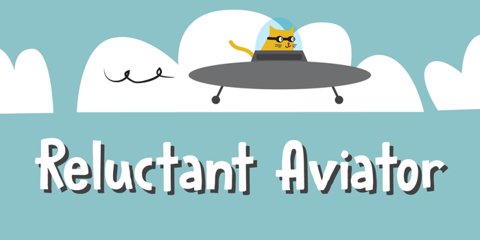Reluctant Aviator Font poster