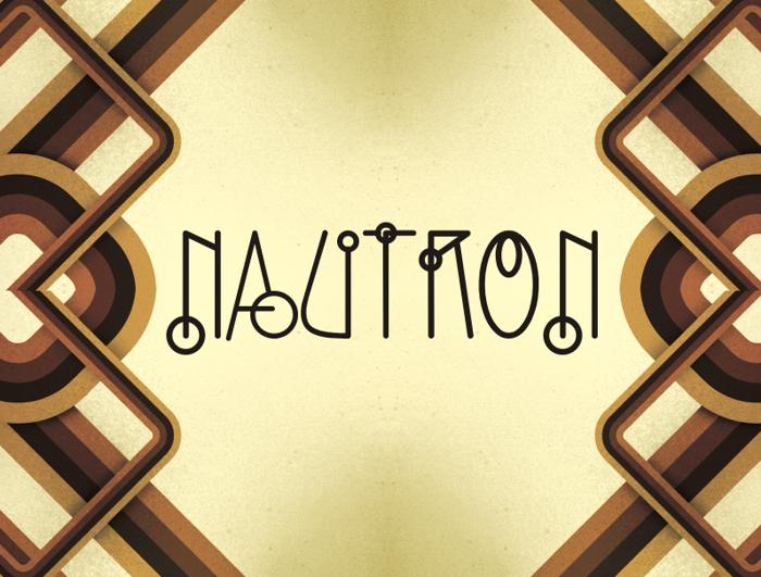 Nautron Font poster