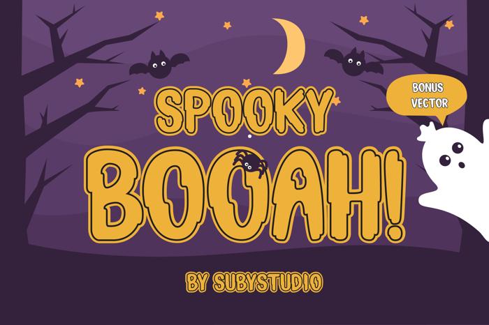 Spooky Booah Font poster