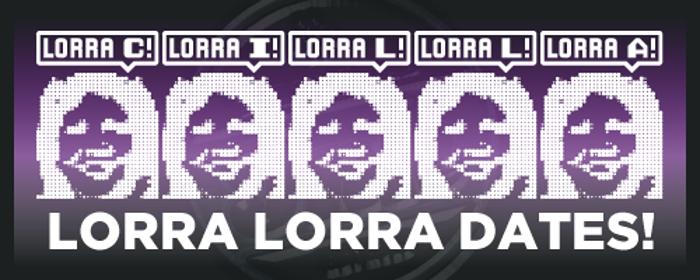 Lorra Lorra Dates! Font poster