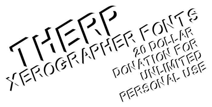 Therp Font poster