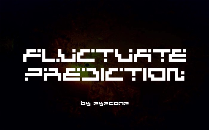 Fluctuate Prediction Font poster