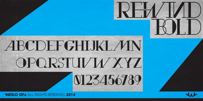 Rewind Font poster