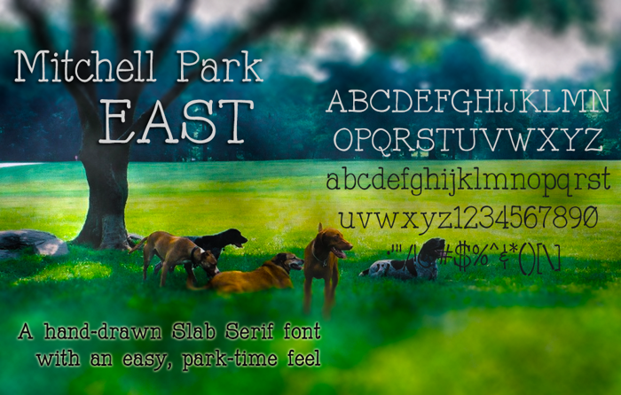 Mitchell Park East Font poster