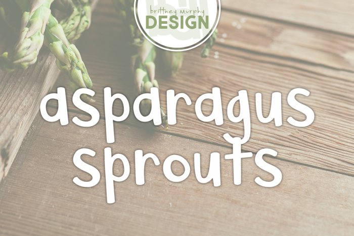 Asparagus Sprouts Font poster