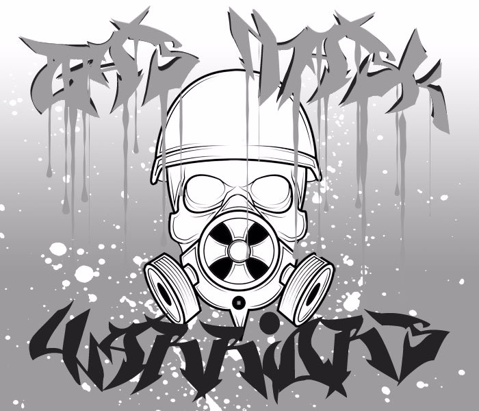 Gas Mask Warriors Font poster
