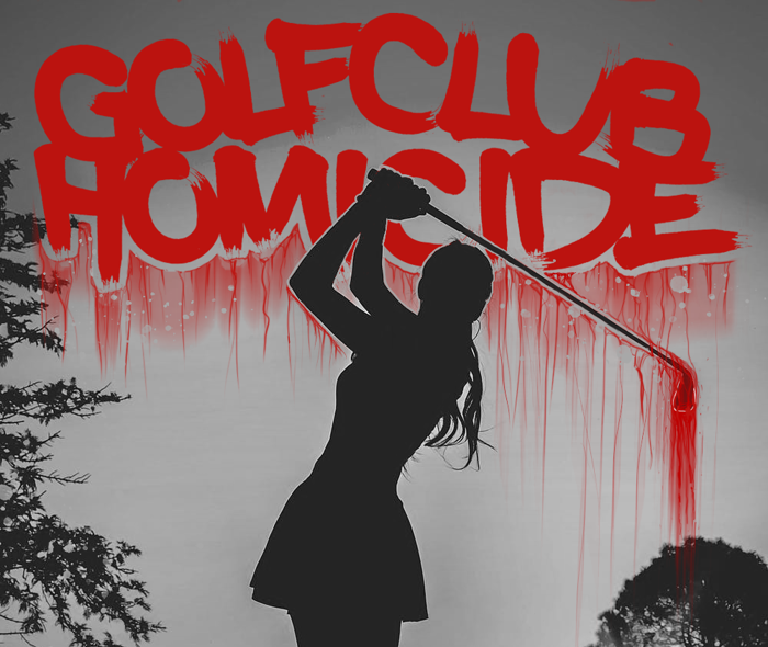 Golf Club Homicide Font poster