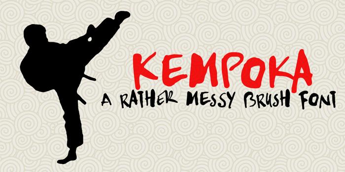 DK Kempoka Font poster